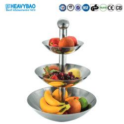 Heavybao Hotel de alta qualidade restaurante em aço inoxidável Buffet Camadas 3 prateleira de frutas