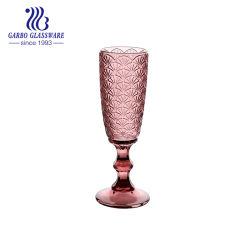 Garbo nuevo diseño de color rojo, tazas de vidrio Champagne GB2604V2806HW
