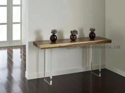 عادة حجم صلبة خشبيّة علبيّة /Epoxy راتينج [تبل/] طبيعيّة خشبيّة طاولة/[كونترتوب/] وحدة طرفيّة للتحكّم مع حافّة حيّة