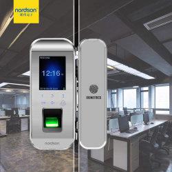 Отель без ключа карты комбинации электронную считыватель отпечатков пальцев безопасной для замка двери безрамные двери Galss