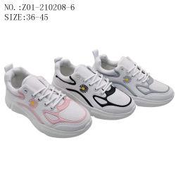 De nieuwe Sporten die van de Manier van de Vrouwen van de Douane van de Stijl de Toevallige In te ademen Schoenen van Tennisschoenen (z01-210208-6) in werking stellen