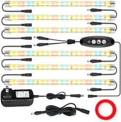 LED-Pflanze wachsen helles volles Spektrum-Licht für Innenpflanzen mit Selbstan/aus-Timer, 144 Stufen LED-4 Dimmable, Sunlike wachsen Lampe für 1000W Mh/HPS Abwechslung