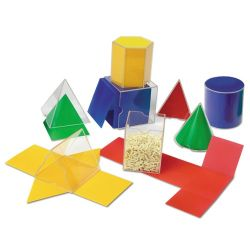 10cm 10pcs de plástico de colores sólidos forma geométrica en 3D.