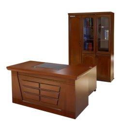 ホットセールプロモーション、高品質な木製エグゼクティブオフィスデスクセット