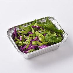 تغليف الطعام استخدام ألومنيوم ورق ألومنيوم حاوية طعام مخصصة الحجم ألومنيوم صندوق ورق الألومنيوم