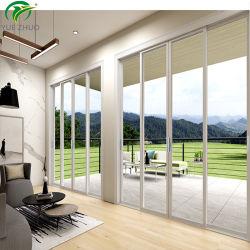 テラスのドアの三倍の柵のアルミニウム二重緩和されたガラスの引き戸