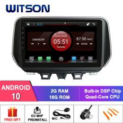 Hyundai Tucson IX35 2018년 차 DVD 플레이어를 위한 Witson 인조 인간 10 차 자동 라디오 DVD GPS