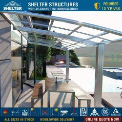 알루미늄 프레임 편평한 지붕 뒤뜰 안뜰 덮개