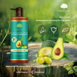 Shampoo van uitstekende kwaliteit van het Haar van de Zorg van het Haar de Bevochtigende met Shampoo van het Haar van het Uittreksel van de Avocado en Van de Olijfolie de Droge