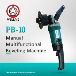 Multifonctionnelle Manuel portable trou de la plaque du tuyau de processus ou la plaque d'Ébavurage biseau Machine