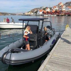 Nervatura gonfiabile del battello di servizio/del motore velocità di alluminio di sport/barche di rematura rigide della barca di fiume/della nave di soccorso barche di sport/barca di velocità