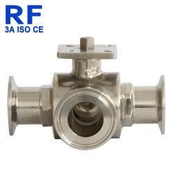 RF 304 санитарных Dn20-100 трехстороннем согласовании шаровой клапан