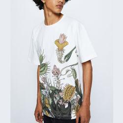 Shirt-weißes Baumwollshirt-Form-Drucken-T-Shirt der kundenspezifischen Großhandelsmänner
