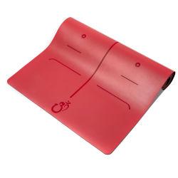 Llegar a mayorista Fabricante Eco friendly el logotipo de impresión personalizada del Caucho Natural orgánica Yogamat PU antideslizante de caucho natural estera del yoga