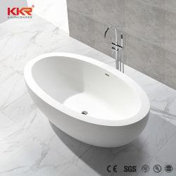 백색 광택이 없는 각종 디자인 타원형 모양 Corian 독립 구조로 서있는 욕조 목욕을 적시는 단단한 표면 던지기 돌 욕조