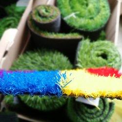 Красочные искусственных травяных для детей в детские площадки матов безопасности