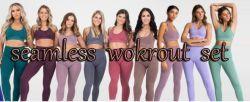 Desgaste de ioga activa das mulheres calças de treino adequado Fitness Sports Perneiras Conjunto de treinamento para vestuário de desgaste de ginásio Sportswear Activo vestir roupa