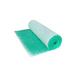 Verde e branco de fibras sintéticas para filtro de paragem de pintura