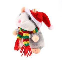 Giocattolo di conversazione della registrazione della peluche del migliore dei capretti di natale criceto del regalo
