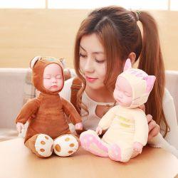Новый детский успокаивающие кукла Мягкая игрушка игрушка для моделирования спящий малыш может говорить