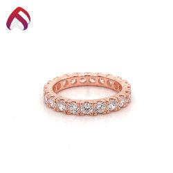 Juwelen 925 van het Huwelijk van de manier de Echte Zilveren multi-Stenen Ring van de Luxe van het Inlegsel