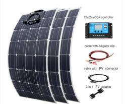Monocrystalline flexibel zonnepaneel 50W/100W/160 Semi voor boot, jacht, caravan, voertuig RV, elektrische auto