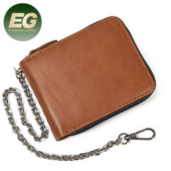 Eg6350 지갑, 체인 풀 그레인, 정품 슬림 스몰 Real Women Wallet Leather 남성용 카드 홀더
