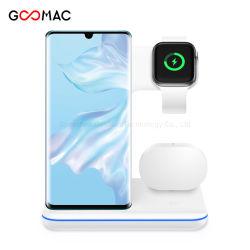 2020 Nova chegada 15W carregador sem fio OEM, Fast 3 em 1 Carregador Sem Fio para iPhone e Apple assistir