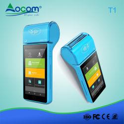NFC de mano de 5 pulgadas mini Android POS Terminal con certificados de EMV
