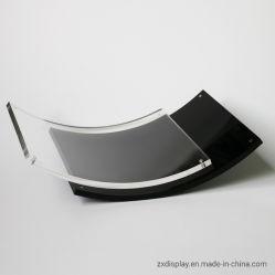 Cornice fotografica curva in vetro plexi per visualizzazione di immagini da tavolo