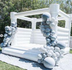 Fabrieksprijs Rubberboten Springen Kasteel Rubberboten Wit Bouncy Wedding Castle