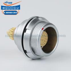 لوحة مقاومة للمياه ZEG.2K.312.CLL EEG 2K من الفئة 12Pins ذات السعر التنافسي IP68 تركيب موصلات السحب التي تدفع جهات الاتصال
