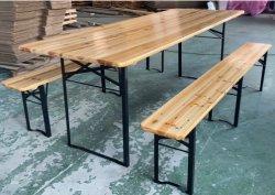Outdoor Holz faltbar Bier Tisch Set Camping Tisch und Bank