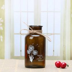 Vase de fleurs en verre de l'or wedding Tall cylindre en verre Vase pour bougie en verre de décoration titulaire