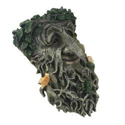 樹脂の木の表面鳥の送り装置の手塗りの屋外の老人の野生の鳥の送り装置の庭の装飾のための変な木の彫刻
