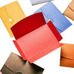 Benutzerdefinierte Western Style Herz Geformt Business Kraftpapier Briefumschlag Heiß Briefumschlag Mit Prägelogo Für Grußkarten