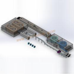 Padaria pão Árabe totalmente automático e tornando o processamento de cozedura máquina de formação de alimentos