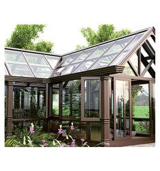 L'anglais Nouveau Restaurant unique tous les verre Home Chambre Simple l'Extrême maisons maison de jardin en alliage en aluminium