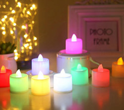 Decoração de aniversário de casamento em casa de chá círio luz LED de PC