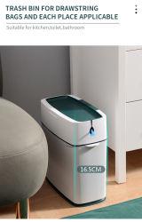 Bandeja de basura de plástico Intdoor Livingroom Papelera de reciclaje de residuos sanitarios de Reciclaje de Basura con 10 L