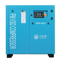 Alta efficienza di Wzs-20az e compressore d'aria a magnete permanente economizzatore d'energia della vite dell'invertitore