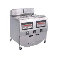 전기 상업적인 음식 기계 처리기 체더링 또는 가스 깊은 스테인리스 컴퓨터 위원회 기름 펌프 독립 구조로 서있는 자동적인 압력 프라이팬 부엌 장비