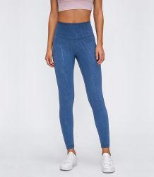 В наличии на складе женщин брюки для занятий йогой высоким содержанием эластана фитнес колготки сжатия