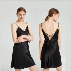 Пижама шелковые халаты сна платья Sexy роскошь 100% чистого шелка для женщин в ночное время Dres