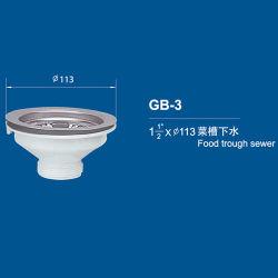 """1-1/2 de """" alimento X113mm PP através do desperdício do dissipador"""