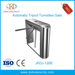Control de acceso de seguridad automáticas de acero inoxidable puerta barrera torniquete trípode Jkdc-128b