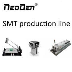 A linha de produção de montagem SMT Mounter com chip (NeoDen4) Forno de soldadura (T5) e a tela Impressora (FP2636)