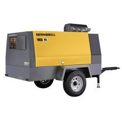 Compresor de aire portátil 250 cfm motor Diesel para la limpieza de arena