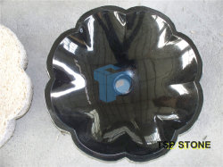 Bacia de lavagem preta do dissipador da pedra do granito para o banheiro & a cozinha