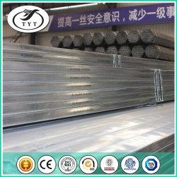 Différentes tailles rectangulaire BS 1387 Tubes soudés en acier galvanisé